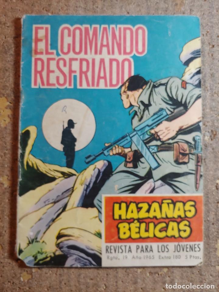 COMIC DE HAZAÑAS BELICAS EN EL COMANDO RESFRIADO DEL AÑO 1965 Nº 180 (Tebeos y Comics - Toray - Hazañas Bélicas)