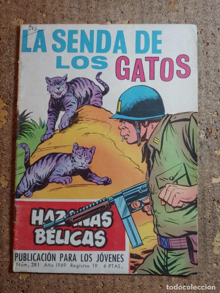 COMIC DE HAZAÑAS BELICAS EN LA SEBDA DE LOS GATOS DEL AÑO 1969 Nº 281 (Tebeos y Comics - Toray - Hazañas Bélicas)
