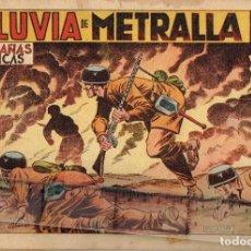 Tebeos: 1950 Nº 33 LLUVIA DE METRALLA BOIXCAR GRAN DIBUJO DEDICADO A JUAN ANTONIO ICAZA DE BILBAO. Lote 278867973