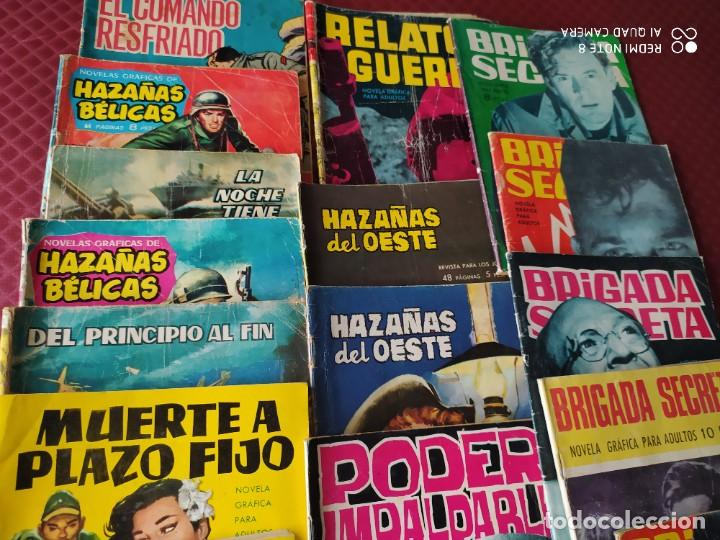 Tebeos: NOVELA GRAFICA LOTE CON BRIGADA SECRETA ,HAZAÑAS BELICAS ,GORILA ,ESPIONAJE ,SIOUX ,HAZAÑAS OESTE - Foto 2 - 285161018