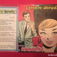 Tebeos: COMIC GUENDALINA Nº 77 ROMANTICA, CON CANCION EL VAGABUNDO DE VICTOR SIMON EDITORIAL TORAY 1959. Lote 285276813