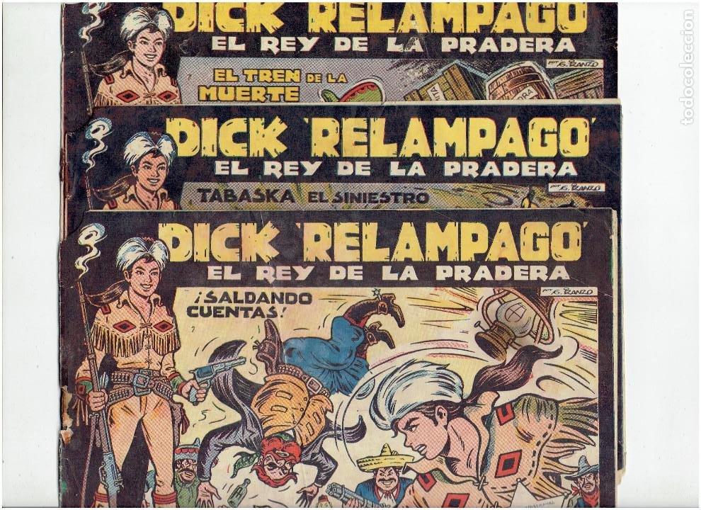 ARCHIVO * DICK RELAMPAGO Nº 2, 4, 7, 16, 27, * EDICIONES TORAY 1961 * ORIGINALES * (Tebeos y Comics - Toray - Dick Relampago)