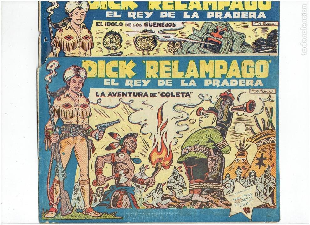 Tebeos: Archivo * DICK RELAMPAGO Nº 2, 4, 7, 16, 27, * EDICIONES TORAY 1961 * ORIGINALES * - Foto 8 - 213738451