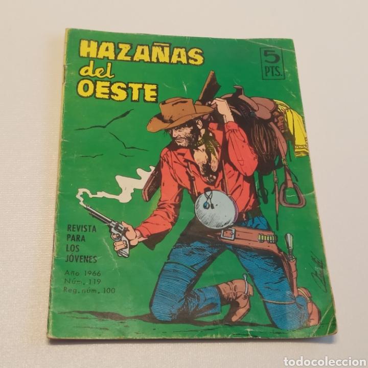 HAZAÑAS DEL OESTE, Nº 119 VIEJOS RIVALES, EDICIONES TORAY 1966 (Tebeos y Comics - Toray - Hazañas del Oeste)
