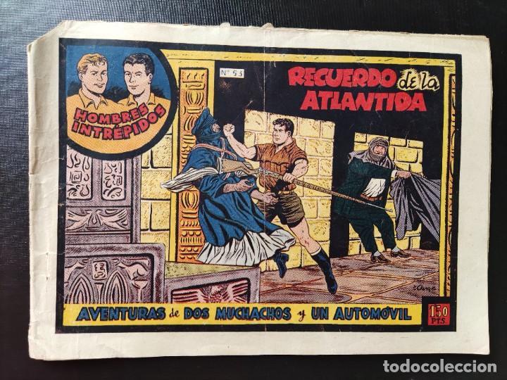 AVENTURAS DE LOS MUCHACHOS Y UN AUTOMÓVIL- HOMBRES INTRÉPIDOS- RECUERDO DE LA ATLÁNTIDA- N⁰53 (Tebeos y Comics - Toray - Otros)