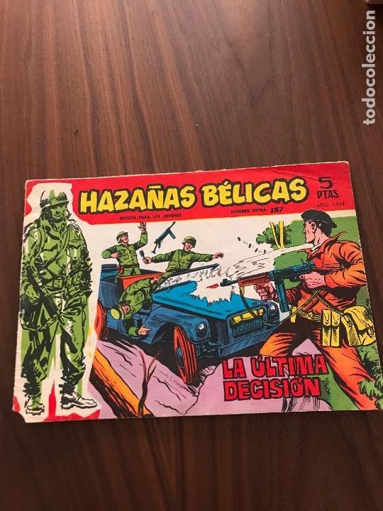 HAZAÑAS BÉLICAS ROJAS NÚMERO EXTRA Nº 157 , EDITORIAL TORAY (Tebeos y Comics - Toray - Hazañas Bélicas)