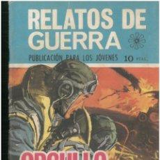 Tebeos: RELATOS DE GUERRA. Nº 189. EDICIONES TORAY. 1962. C-82. Lote 288390943