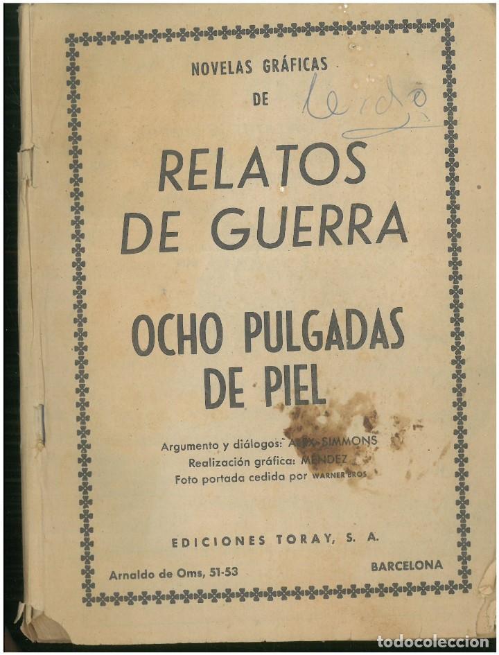 RELATOS DE GUERRA. Nº 11. EDICIONES TORAY. 1962. C-82 (Tebeos y Comics - Toray - Otros)