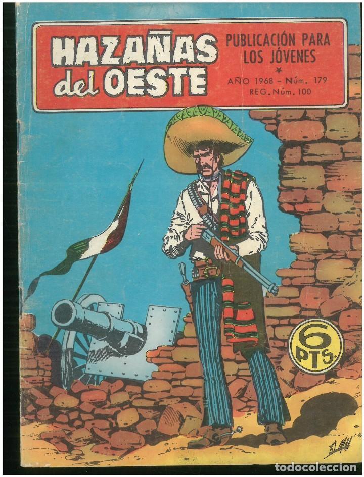 HAZAÑAS DEL OESTE. Nº 179. EDICIONES TORAY. 1961. C-82 (Tebeos y Comics - Toray - Hazañas del Oeste)