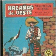 Tebeos: HAZAÑAS DEL OESTE. Nº 179. EDICIONES TORAY. 1961. C-82. Lote 289348258