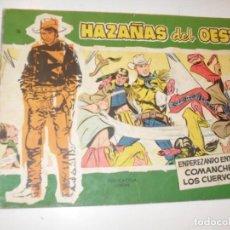 Tebeos: HAZAÑAS DEL OESTE 16(DE 44).EDICIONES TORAY,AÑO 1959.COLECCION DIFICIL.ORIGINAL.. Lote 294574508