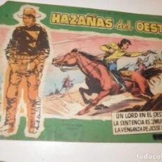 Tebeos: HAZAÑAS DEL OESTE 11(DE 44).EDICIONES TORAY,AÑO 1959.COLECCION DIFICIL.ORIGINAL.. Lote 294574813
