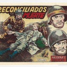 Tebeos: HAZAÑAS BÉLICAS 51: RECONCILIADOS EN LA MUERTE, 1952, TORAY, MUY BUEN ESTADO. Lote 295444018