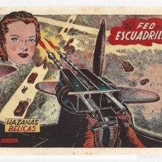Tebeos: HAZAÑAS BÉLICAS 44: EL FEO DE LA ESCUADRILLA, 1952, TORAY, ORIGINAL, BUEN ESTADO. Lote 295447213