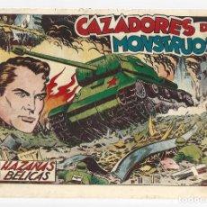 Tebeos: HAZAÑAS BÉLICAS 11: CAZADORES DE MONSTRUOS, 1950, TORAY, MUY BUEN ESTADO. Lote 295448153