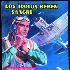 Tebeos: GIROEXLIBRIS.- HAZAÑAS BÉLICAS.1962. Nº 19 LOS ÍDOLOS BEBEN SANGRE CON DIBUJOS DE JL. DE LA FUENTE. Lote 295583933