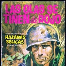 Tebeos: GIROEXLIBRIS.- HAZAÑAS BÉLICAS.1962. Nº 34 LAS OLAS SE TIÑEN DE ROJO CON PORTADA DE J. LONGARÓN. Lote 295589713