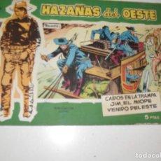 Tebeos: HAZAÑAS DEL OESTE 20.EDICIONES TORAY,AÑO 1958.ORIGINAL APAISADO.TEBEO DIFICIL.. Lote 295911093