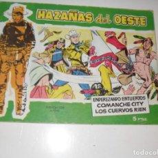 Tebeos: HAZAÑAS DEL OESTE 16.EDICIONES TORAY,AÑO 1958.ORIGINAL APAISADO.TEBEO DIFICIL.. Lote 295911208