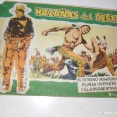 Tebeos: HAZAÑAS DEL OESTE 9.EDICIONES TORAY,AÑO 1958.ORIGINAL APAISADO.TEBEO DIFICIL.. Lote 295911408