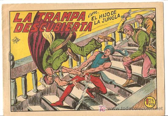 HIJO DE LA JUNGLA 7 IMPECABLE, DE LUJO, ORIGINAL EDI. VALENCIANA 1956 (Tebeos y Comics - Valenciana - Hijo de la Jungla)