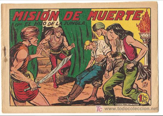 HIJO DE LA JUNGLA 17 MUY NUEVO, ORIGINAL EDI. VALENCIANA 1956 (Tebeos y Comics - Valenciana - Hijo de la Jungla)