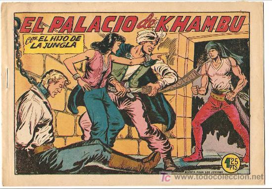 HIJO DE LA JUNGLA 19 IMPECABLE, DE LUJO, ORIGINAL 1956 EDI. VALENCIANA (Tebeos y Comics - Valenciana - Hijo de la Jungla)