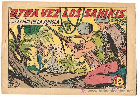 HIJO DE LA JUNGLA 24 IMPECABLE, DE LUJO, ORIGINAL EDI. VALENCIANA 1956 (Tebeos y Comics - Valenciana - Hijo de la Jungla)
