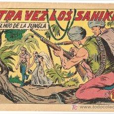 Tebeos: HIJO DE LA JUNGLA 24 IMPECABLE, DE LUJO, ORIGINAL EDI. VALENCIANA 1956. Lote 4647346
