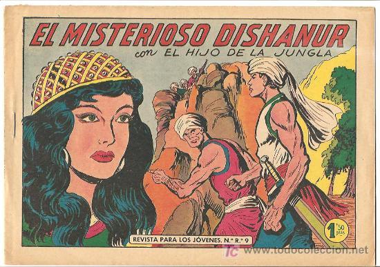 HIJO DE LA JUNGLA 33 IMPECABLE, DE LUJO, ORIGINAL EDI. VALENCIANA 1956 (Tebeos y Comics - Valenciana - Hijo de la Jungla)
