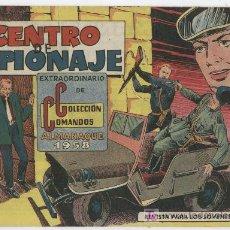 Tebeos: COLECCION COMANDOS Nº 21 ALMANAQUE 1958 J.M. ORTIZ - VALENCIANA. Lote 17818126