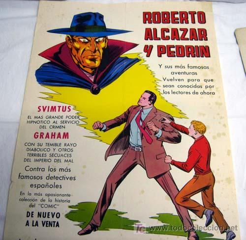 CARTEL DE ROBERTO ALCÁZAR Y PEDRÍN EDITORA VALENCIANA 1976 (Tebeos y Comics - Valenciana - Roberto Alcázar y Pedrín)
