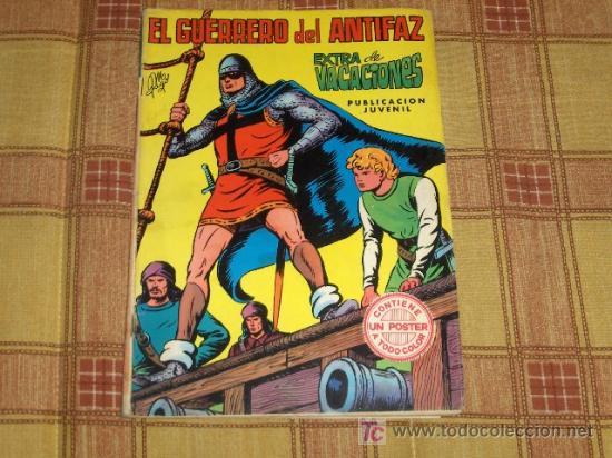 EL GUERRERO DEL ANTIFAZ EXTRA VACACIONES 1973 PÓSTER DE OSMIN KIR. EDIVAL. REGALO ALMANAQUE 1974. (Tebeos y Comics - Valenciana - Guerrero del Antifaz)