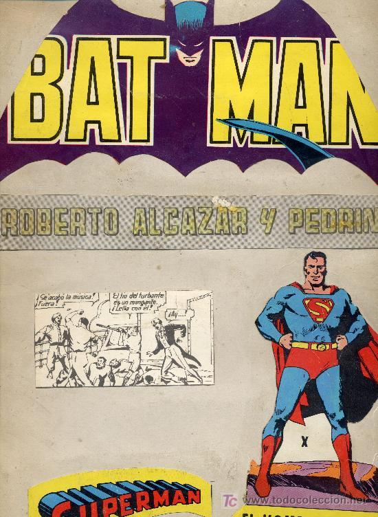 ROBERTO ALCÁZAR Y PEDRÍN, SUPERMAN, BATMAN (4 ÁLBUMES GIGANTES DE EDITORIAL VALENCIANA) (Tebeos y Comics - Valenciana - Roberto Alcázar y Pedrín)