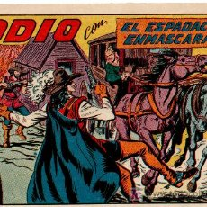 Tebeos: EL ESPADACHIN ENMASCARADO Nº 179, EXCELENTE ESTADO, COMO NUEVO, VALENCIANA 1952. Lote 8016594