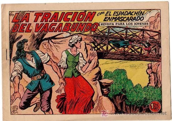 EL ESPADACHIN ENMASCARADO Nº 226 EXCELENTE ESTADO, MUY DIFICIL, VALENCIANA 1952 (Tebeos y Comics - Valenciana - Espadachín Enmascarado)