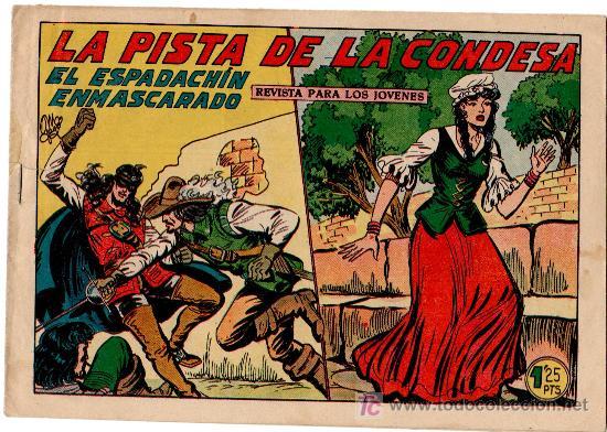 EL ESPADACHIN ENMASCARADO Nº 228, ORIGINAL, VALENCIANA 1952 POR MANUEL GAGO (Tebeos y Comics - Valenciana - Espadachín Enmascarado)