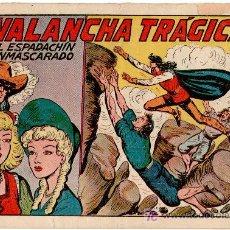 Tebeos: EL ESPADACHIN ENMASCARADO Nº 77 VALENCIANA 1952. Lote 8004423