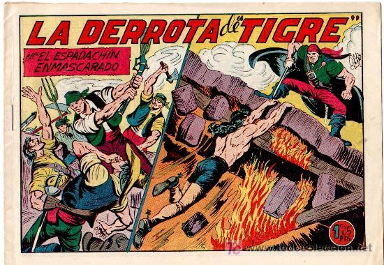 EL ESPADACHIN ENMASCARADO Nº 154 , VALENCIANA 1952 POR MANUEL GAGO, EXCELENTE ESTADO (Tebeos y Comics - Valenciana - Espadachín Enmascarado)