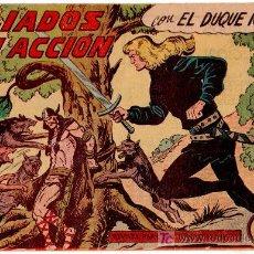 Tebeos: EL DUQUE NEGRO ORIGINAL Nº 33 - 1958 VALENCIANA POR MANUEL GAGO. Lote 18718992