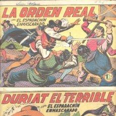 Tebeos: EL ESPADACHIN ENMASCARADO DURIAT EL TERRIBLE LA ORDEN REAL. Lote 8289644