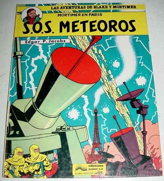 BLAKE Y MORTIMER - SOS METEOROS - POR EDGAR P. JACOBS - COLECCION N 05 - TAPA DURA - (Tebeos y Comics - Valenciana - S.O.S)