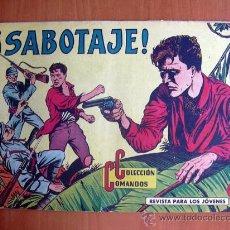 Tebeos: COLECCIÓN COMANDOS, Nº 45 - EDITORIAL VALENCIANA 1954. Lote 9323144