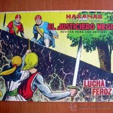 Tebeos: EL JUSTICIERO NEGRO, Nº 19 - EDITORIAL VALENCIANA 1965. Lote 9387121