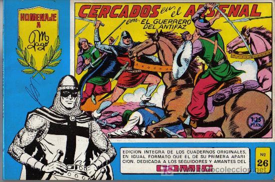 EL GUERRERO DEL ANTIFAZ - Nº 26 - HOMENAJE A MANUEL GAGO (Tebeos y Comics - Valenciana - Guerrero del Antifaz)