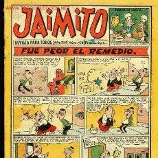 Tebeos: EDITORIAL VALENCIANA-REVISTA PARA TODOS JAIMITO AÑOXIII,Nº 458,19 JULIO 1958. Lote 1641893