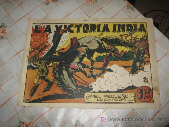 EL PEQUEÑO LUCHADOR N-42,AÑOS 40,TAMAÑO GRANDE. (Tebeos y Comics - Valenciana - Pequeño Luchador)