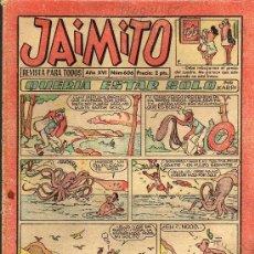 Tebeos: JAIMITO - Nº 606 AÑO XVI - EDITORIAL VALENCIANA 1961. Lote 19110652