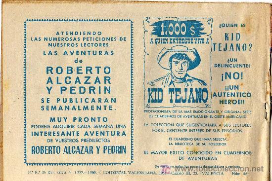 Tebeos: EL PEQUEÑO LUCHADOR - Nº 46 - EDITORIAL VALENCIANA 1961 - ORIGINAL, NO FACSIMIL - Foto 2 - 16004353