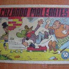 Tebeos: EL PROFESOR CARAMBOLA 1º EDICIÓN - ED. VALENCIANA 1945 - Nº 17-CAZANDO MALEANTES. Lote 17596679